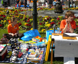 Q: Why do people sell their old junk in the street on 30 April?