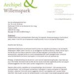 A&W letter to Municipality on Raamweg/Koningskade