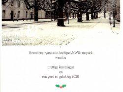 Nieuwjaarsbijeenkomst Bewonersorganisatie Archipel & Willemspark
