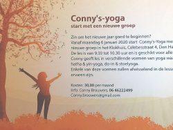 Conny Brouwers start nieuwe 'gewone' Yogacursus