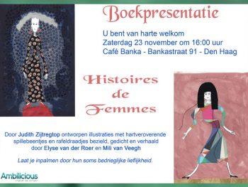 Boekpresentatie door Mili van Veegh in Café Banka