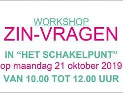 Workshop ZIN-VRAGEN