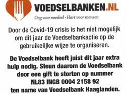 Voedselbankactie 2020 Archipel/Willemspark