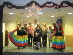 Chinese dance troupe perform at Klokhuis Koempoelan gathering