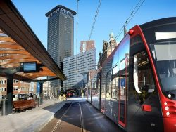The tram stops at Hollands Spoor are in use again