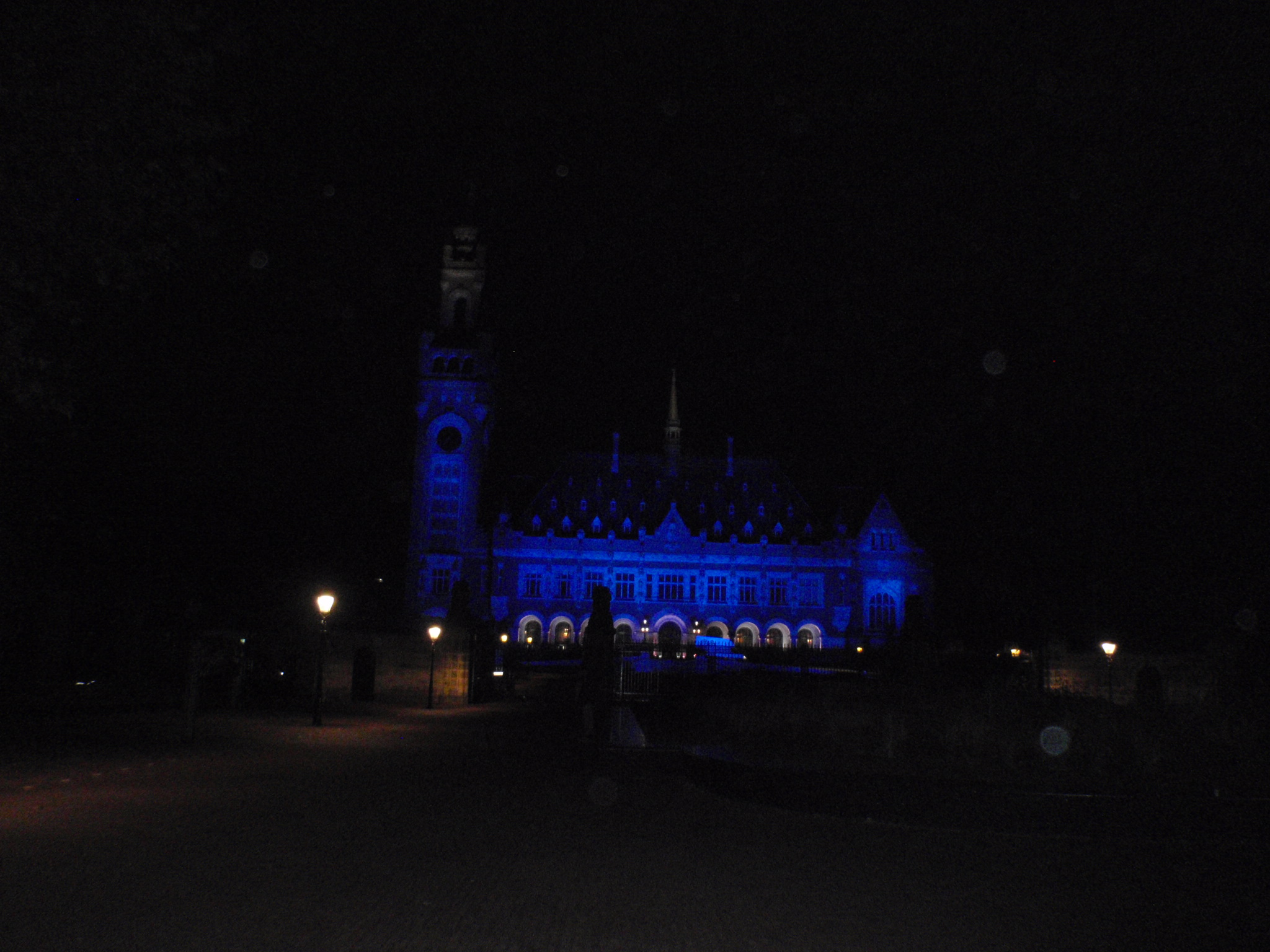 Peace Palace in Blue